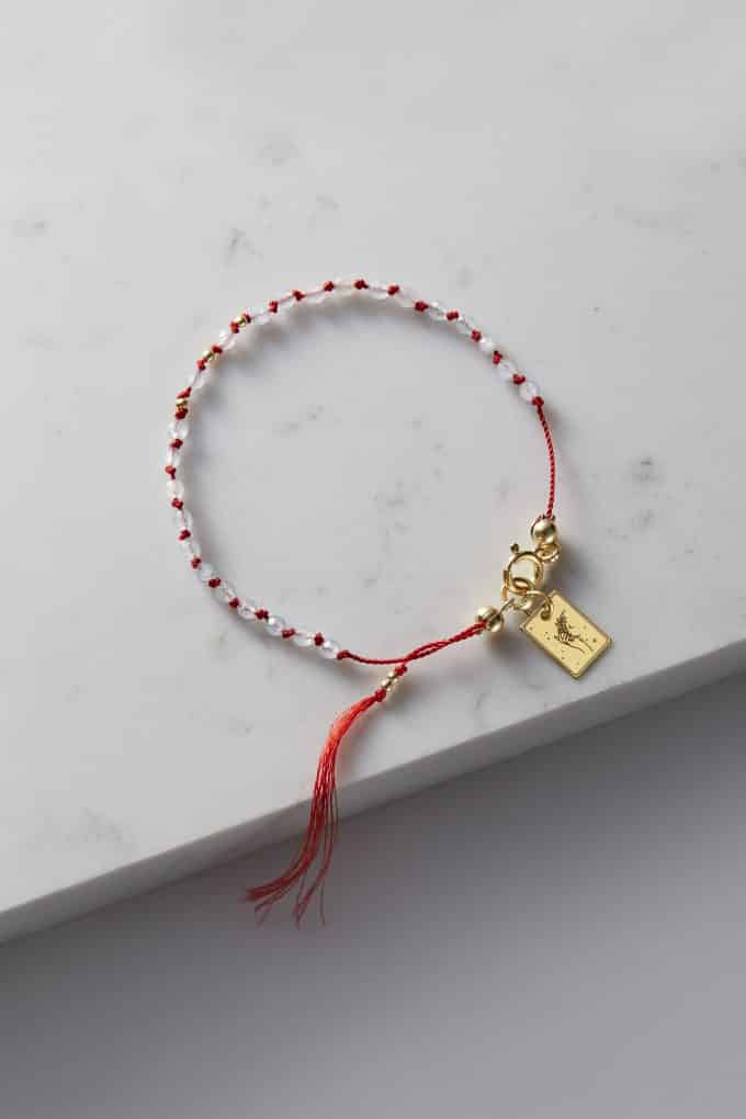 Amulet na rękę z akwamarynem